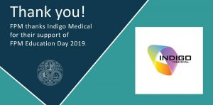 Thank to Indigo Medical for supporting hashtag#FPMEduDay2019. It's fantastic to have you on board for a third consecutive event.